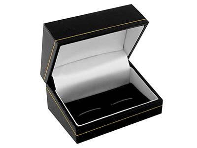 Black Leatherette Cufflink Box