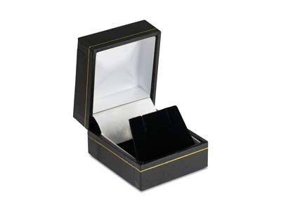 Black Leatherette Stud Earring Box