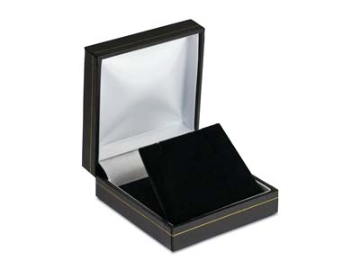 Black Leatherette Drop Earring Box