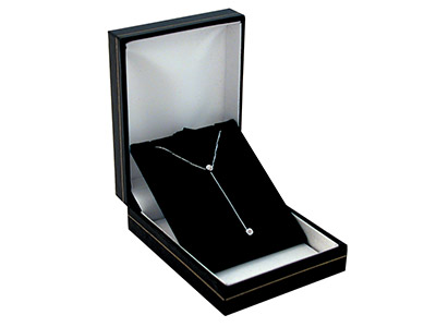 Black Leatherette Pendant Box