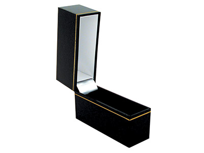 Black Leatherette Narrow Bangle Box