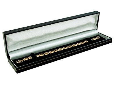 Black Leatherette Long Bracelet Box