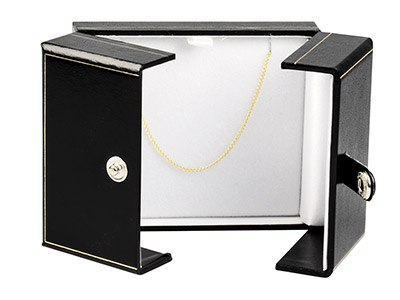 Black Leatherette 2 Door Pendant   Box