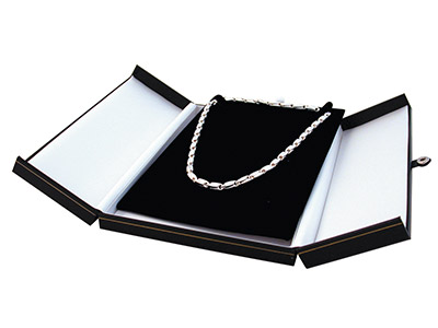 Black Leatherette 2 Door Necklet Box