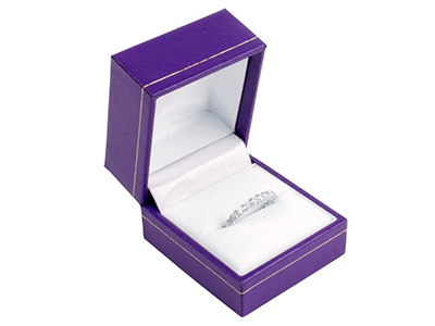 Purple Leatherette Ring Box