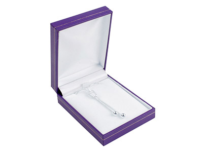 Purple Leatherette Pendant Box