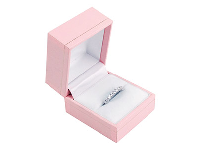 Baby Pink Leatherette Ring Box