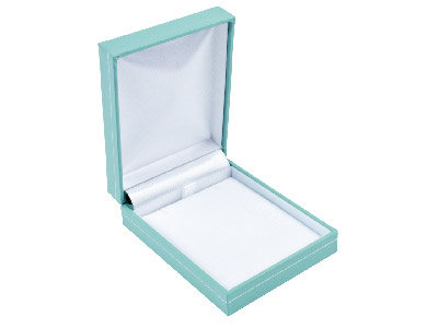 Mint Green Leatherette Pendant Box