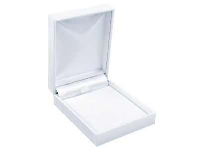 White Leatherette Pendant Box