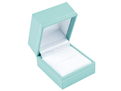 Turquoise Leatherette Ring Box