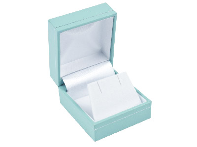 Mint Green Leatherette Stud Earring Box