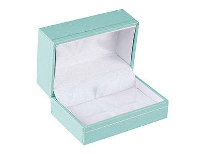 Mint Green Leatherette Cufflink Box
