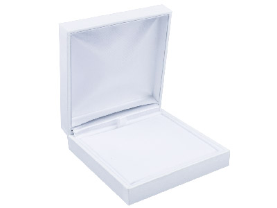 White Leatherette Universal Box