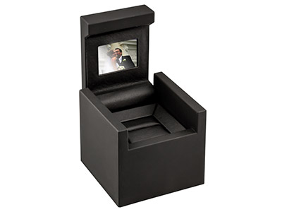 Video Enabled Black Jewellery Ring Box