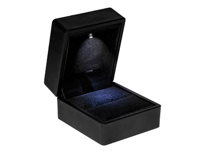 Led Black Jewellery Ring Box