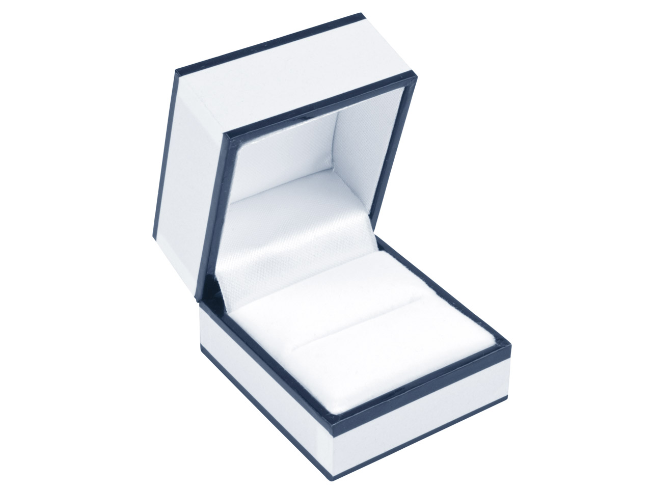 White Monochrome Ring Box