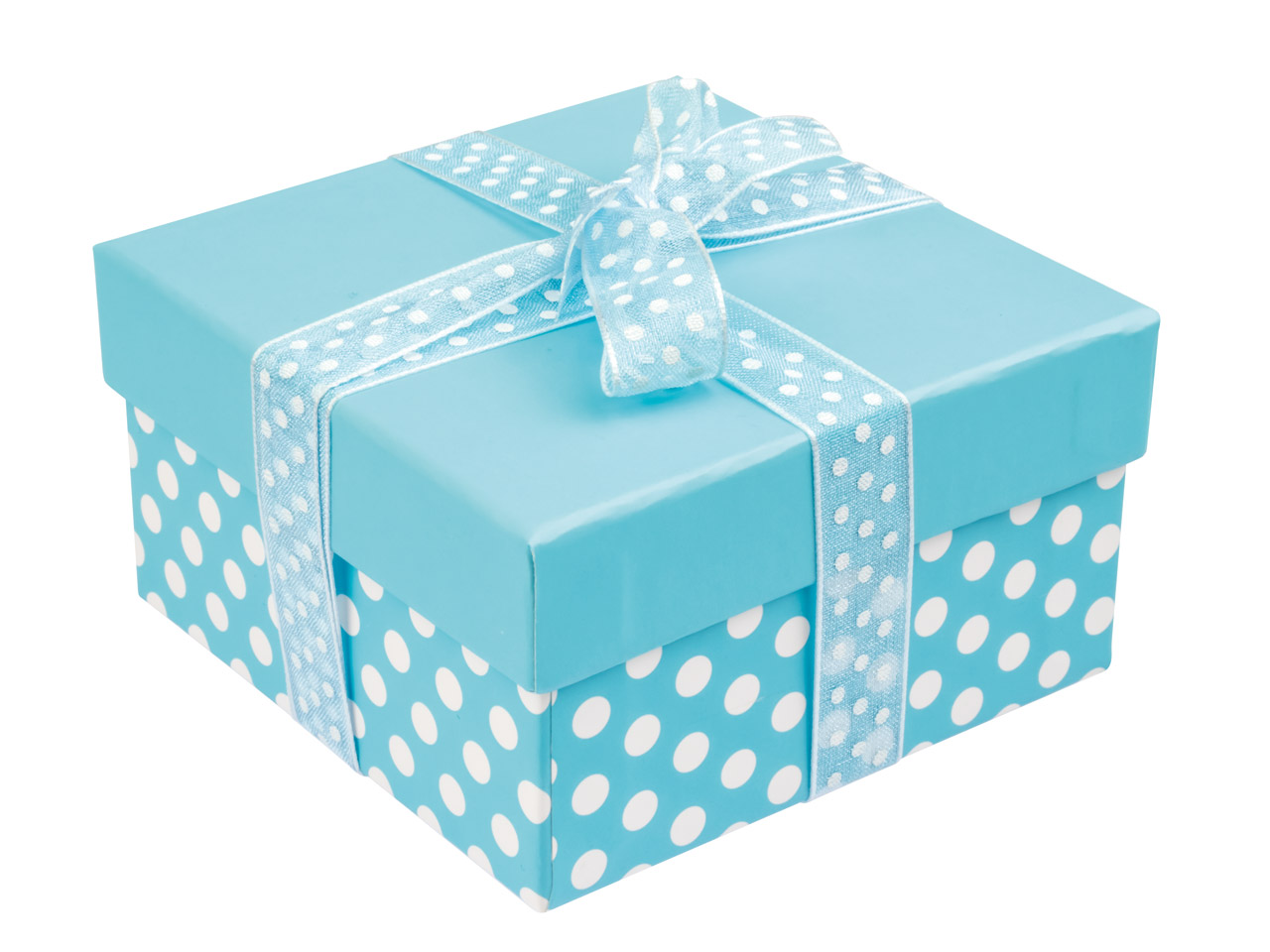 Blue Polka Dot Universal Gift Box