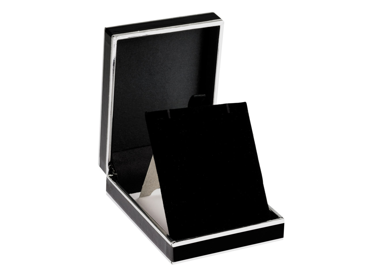 Black And Silver 2 Tone Pendant Box