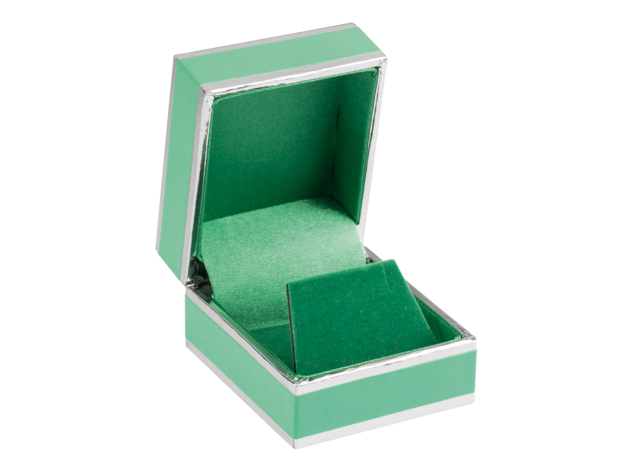 Green And Silver 2 Tone Earring Box