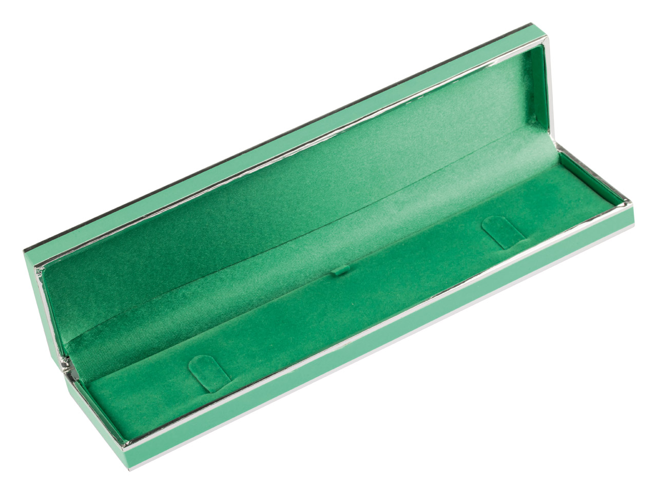 Green And Silver 2 Tone Bracelet   Box