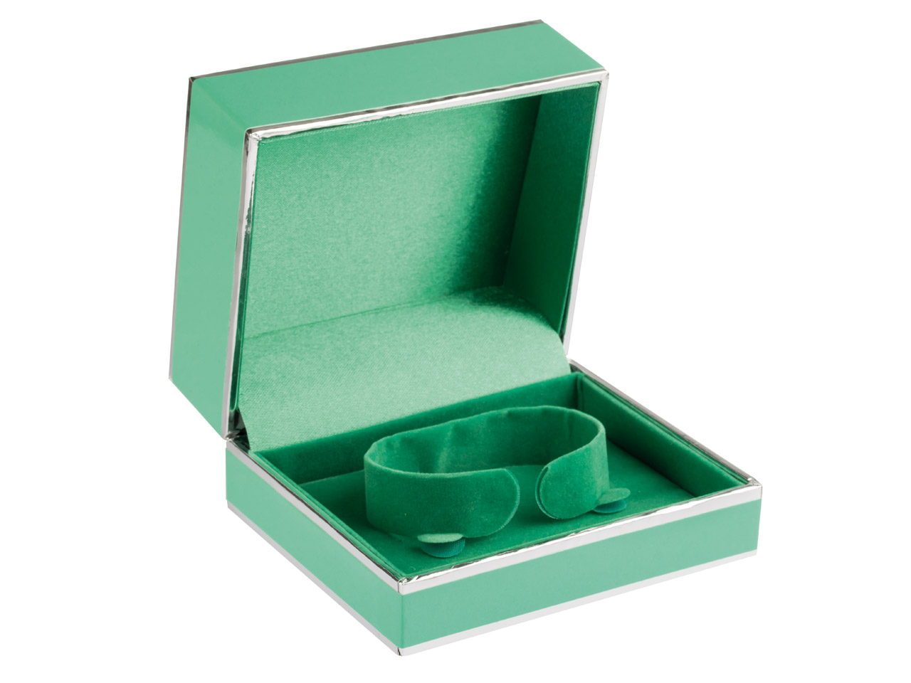 Green And Silver 2 Tone Bangle Box