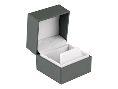 Grey Soft Touch Earring Box