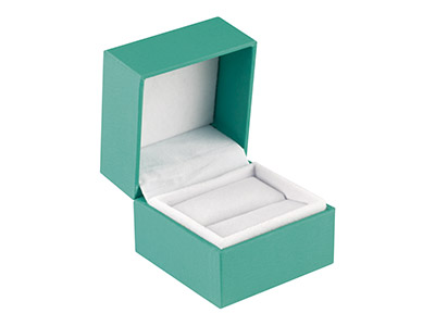 Green Soft Touch Ring Box