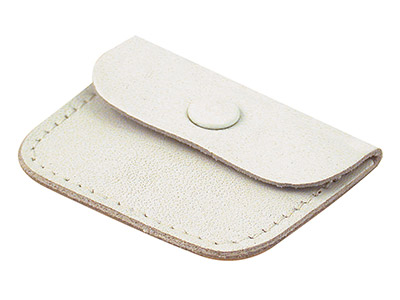 Leather White Ring Pouch, Ideal As A Wedding Ring Purse
