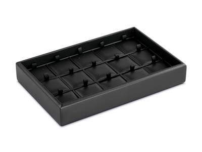 Stackable Black Earring            Presentation Tray 22x14x3.9cm