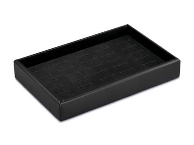 Stackable Black Ring Presentation  Tray 22x14x3.9cm