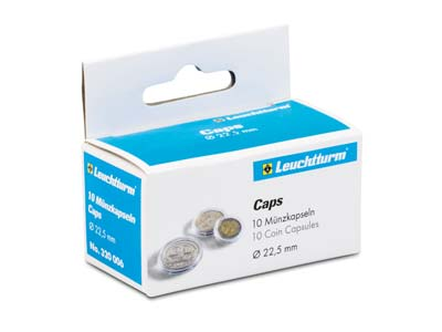 Leuchtturm Coin Capsules Size      22.5mm Pack of 10