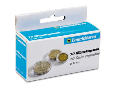 Leuchtturm Coin Capsules Size 38mm Pack of 10