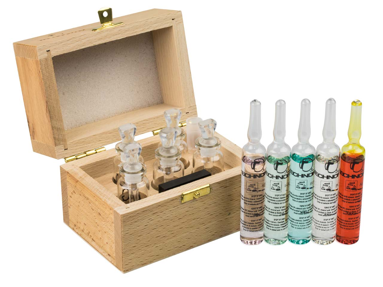 Metal Test Kit With 5 Bottles And  Synthetic Touch Stone Un2031