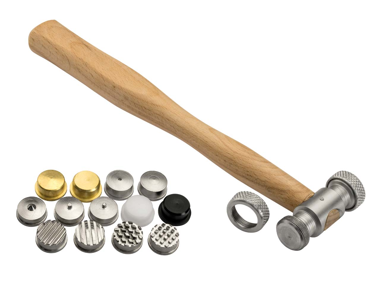 Hammer With 13 Interchangeable Head Inserts