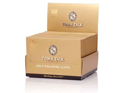 Town Talk Gold Cloth Small, 12.5cm X 17.5cm, Trade Pack of 50