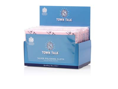 Town Talk Silver Cloth 30x45cm     Trade Pack of 12
