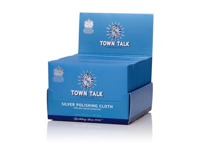 Town Talk Silver Cloth 12.5cm X    17.5xm Trade Pack of 50