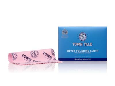 Town Talk Silver Cloth Small 12.5cm X 17.5cm