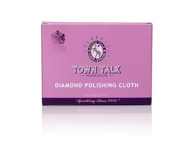 Town Talk Diamond Polishing Cloth  Large, 30cm X 30cm