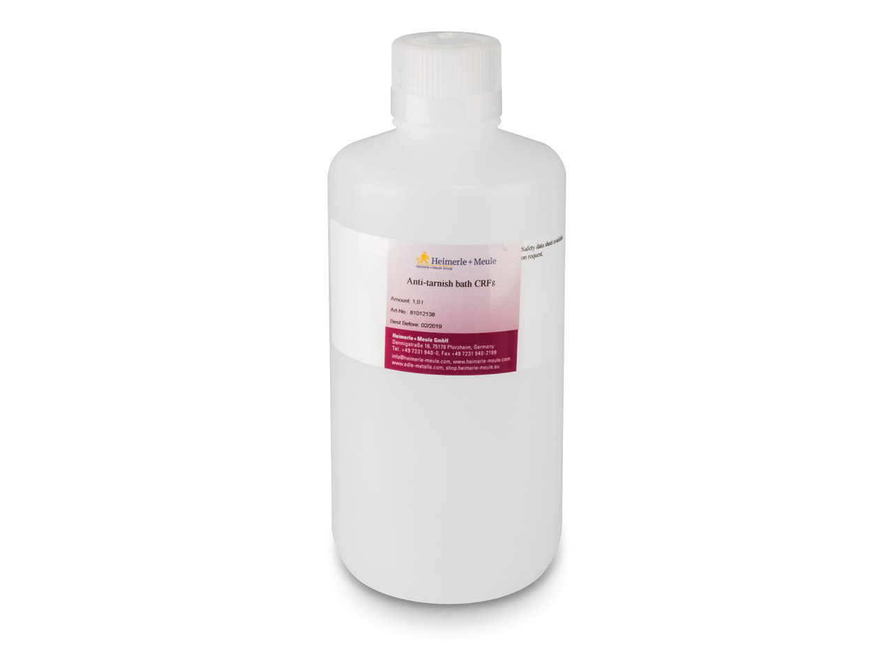 Silver Anti Tarnish Solution Crfs  By Heimerle Meule 1 Litre