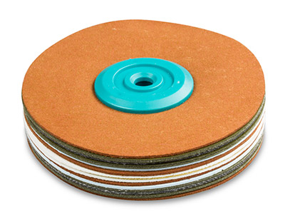 Synthetic Suede Polishing Mop,     Hard, Medium 100mm X 18mm