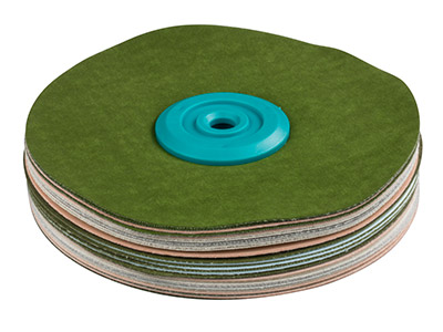 Synthetic Suede Polishing Mop,     Soft, Large 120mm X 18mm