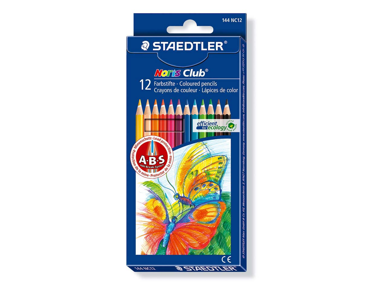 Staedtler Coloured Pencil Set, Box Of 12 Colours