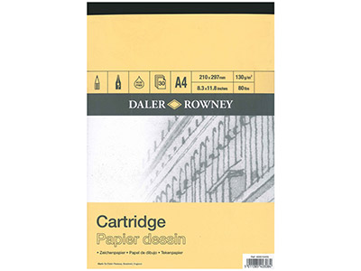 Daler Rowney Series A Cartridge    Pad, A4, 30 Sheets, 130gsm