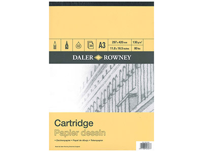 Daler Rowney Series A Cartridge Pad A3, 30 Sheets, 130gsm