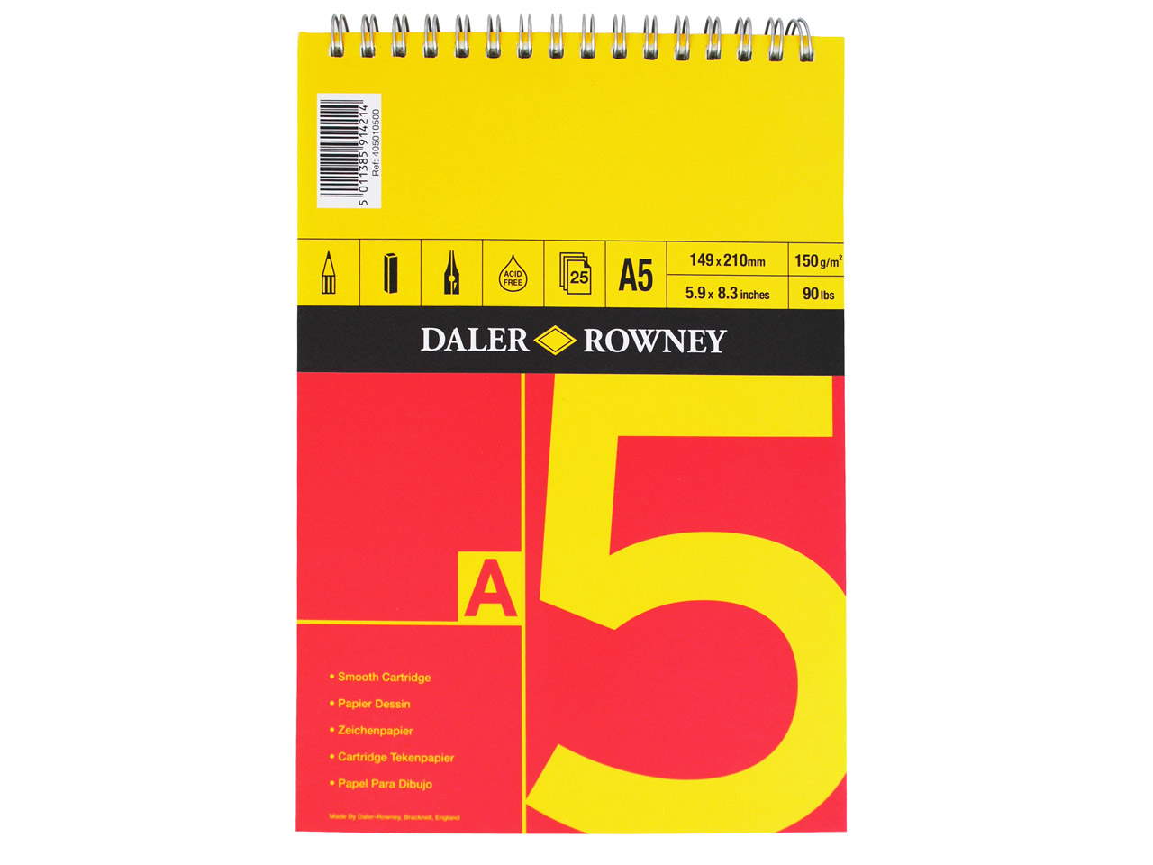 Daler Rowney Series A Sketchbook   A5, 25 Pages, 150gsm
