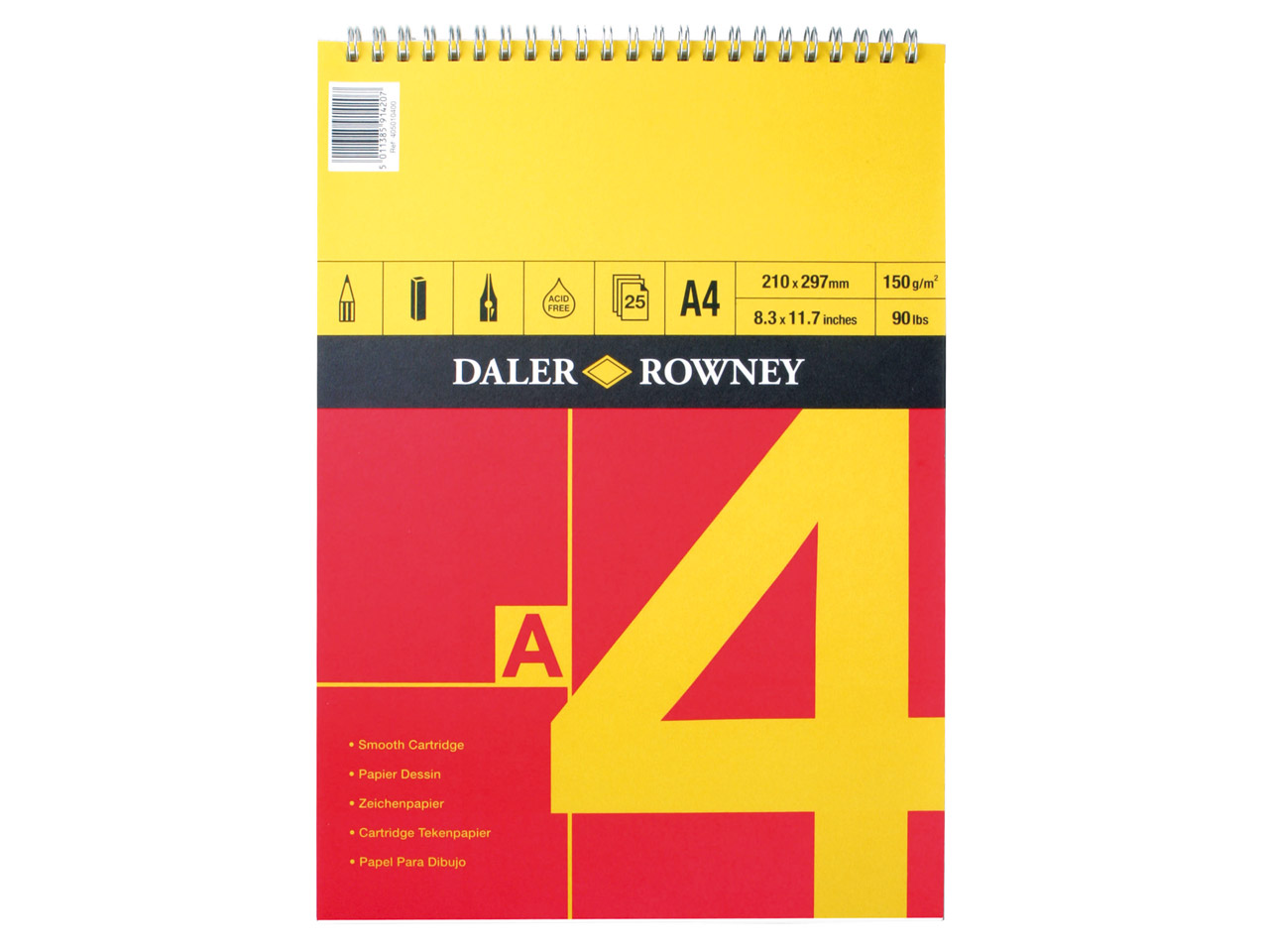 Daler Rowney Series A Sketchbook   A4, 25 Pages, 150gsm