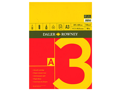 Daler Rowney Series A Sketchbook   A3, 25 Pages, 150gsm
