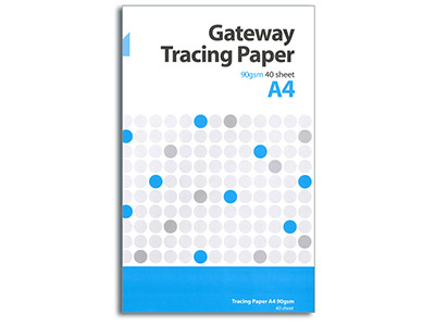 Gateway Natural Tracing Paper A4  Pad 40 Sheets 90gsm