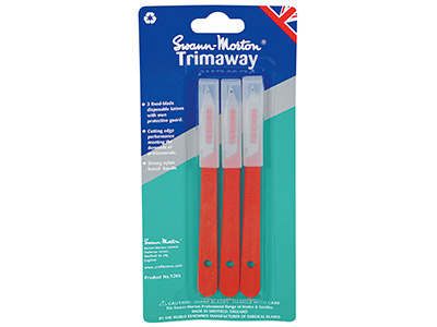 Swann Morton Trimaway Craft Knife  Pack of 3 With Blades